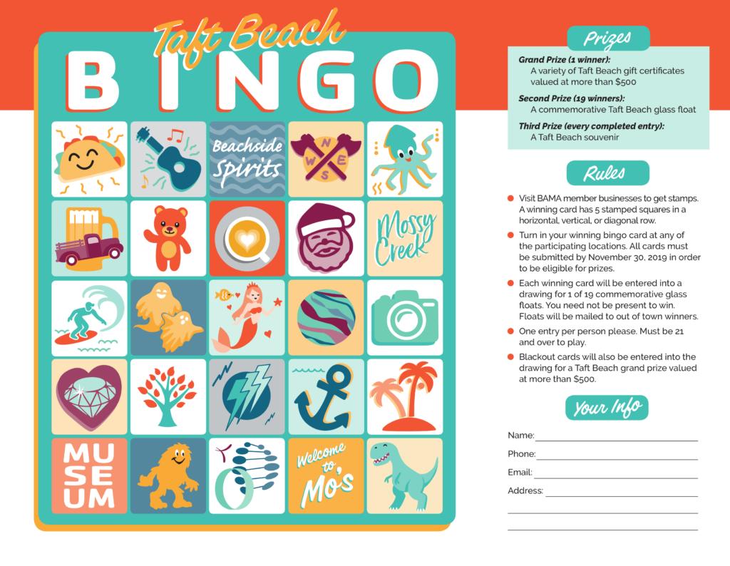 Taft Beach Bingo